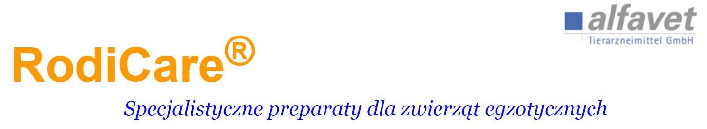 RodiCare - Specjalistyczne preparaty ratunkowe dla królików i gryzoni - Alfavet